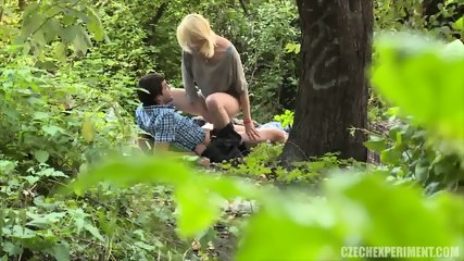 Blonde Nympho Rides Stranger In The Park - scene 5