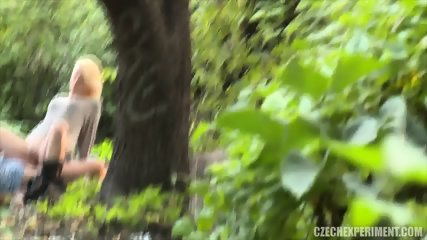 Blonde Nympho Rides Stranger In The Park - scene 6