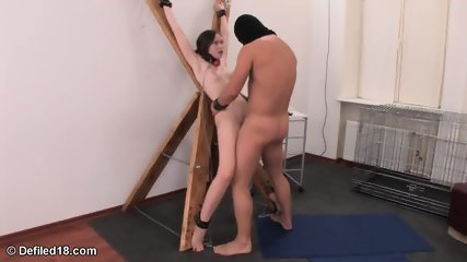 Babe In Bondage Gets Pounded In Pussy And Ass - scene 8
