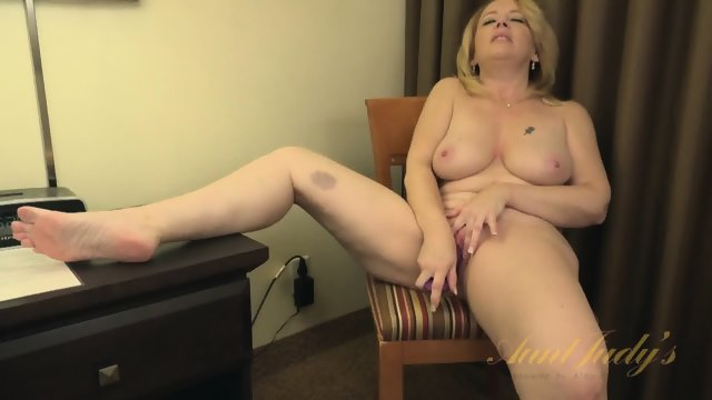 Mature Blonde And Her Toys