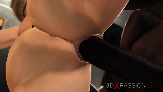 Sexy blonde loves a hard fucking in restraints