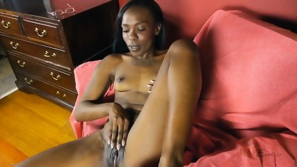 Ebony Chick In Solo Action - scene 8