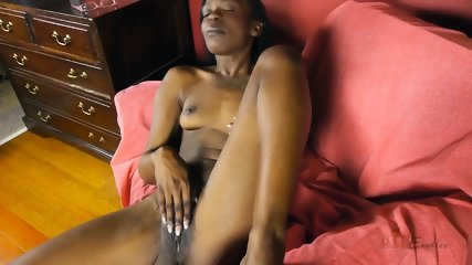Ebony Chick In Solo Action - scene 6
