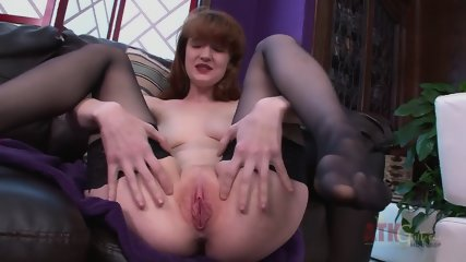 Charming Redhead With Stockings - scene 4