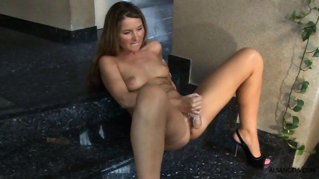 Vulgar Bitch Plays With Herself