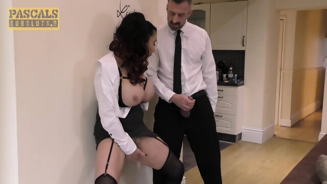 Busty Sub MILF Face Fucked By Pascal