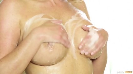 Busty Blonde Lady Takes Care Of Dick - scene 1