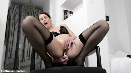 Sexy Girl With Stockings And Dildo In Ass - scene 12