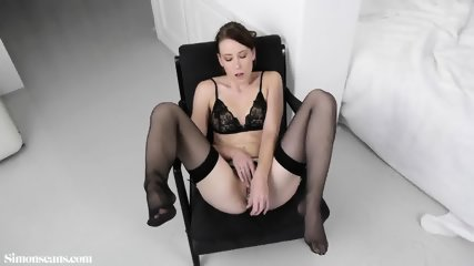 Sexy Girl With Stockings And Dildo In Ass - scene 2