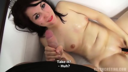 Masturbation And Dick Sucking At The Casting