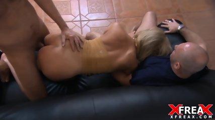 Elegant Slut Fucked By Two Cocks - scene 4
