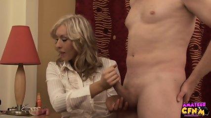 Elegant Lady Rubs Dick