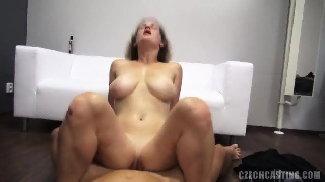 Curly Amateur Rides Cock At The Casting
