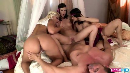Wild Bitches Share Cock - scene 8