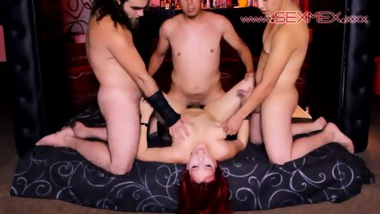 Redhead Slut Gets Gang Banged - scene 4