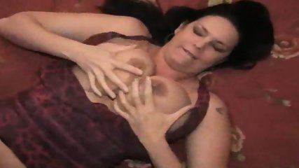 Carrie Moon licking her big titts - scene 11