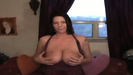 Carrie Moon licking her big titts - scene 2