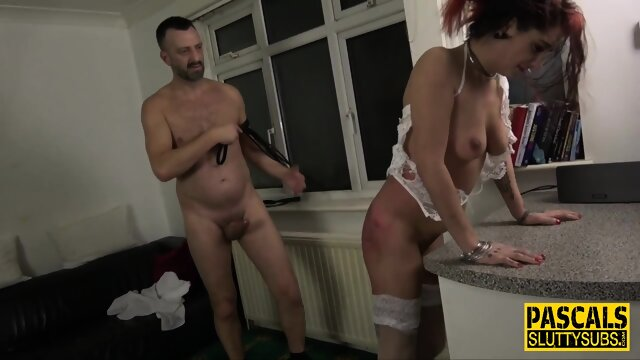 Bound and spanked submissive