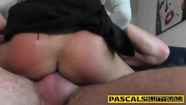 Busty ebony submissive gets fucked