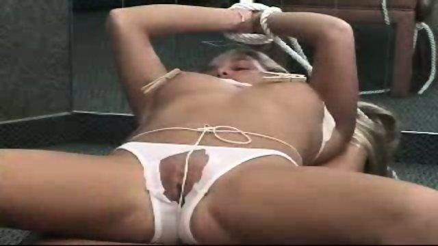 Cutting bondaged panties