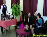 Classy Pissing Eurobabes Groupsex At Winebar