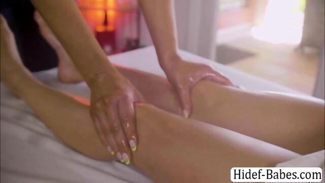 Gorgeous brunette enjoys having sex with her hot masseuse