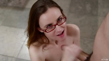 Blowjob By Chick With Glasses - scene 12