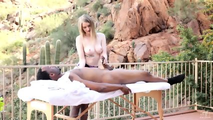 Interracial Love During Massage - scene 3