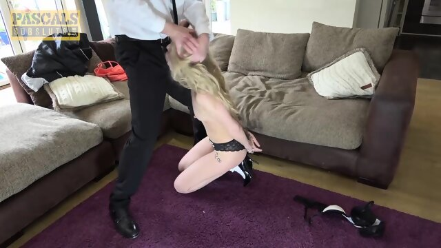 PASCALSSUBSLUTS – Blonde April Paisley Double Fucked In 3way