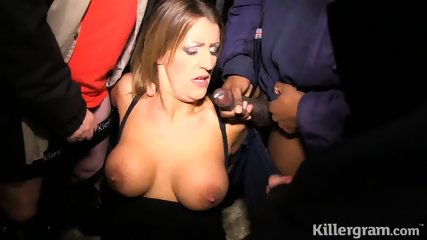 Slutty Lady Licks Cocks
