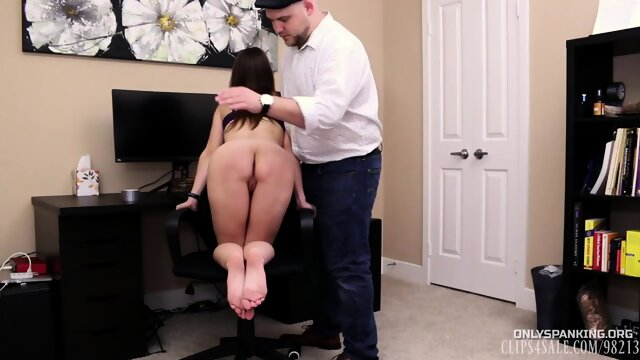 Chrissy Marie bad secretary earns a red ass