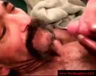 Straight Mature Bear Gets Jizz On Face