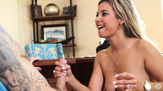 Young Mom Sucks Tattooed Guy's Cock