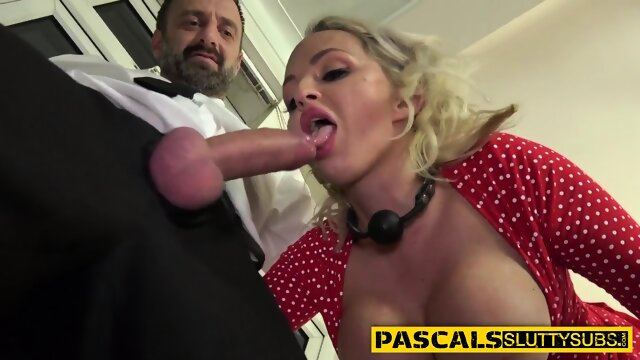 Whipped busty milf submissive gets pounded