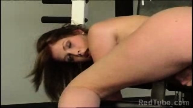 Girl masturbating in Gym Room