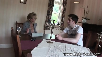 Busty Housewife Seduces Young Guy - scene 1