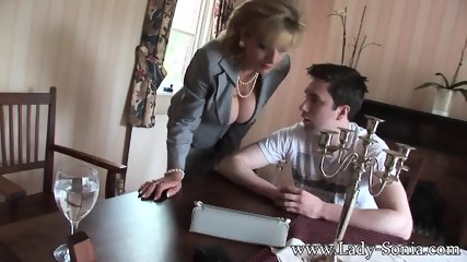 Busty Housewife Seduces Young Guy - scene 3