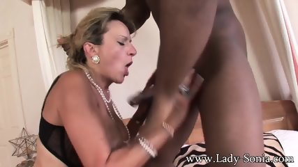 Mature Blonde Serves Big Black Pole - scene 4