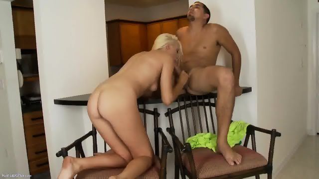 Blowjob By Amazing Blonde Chick