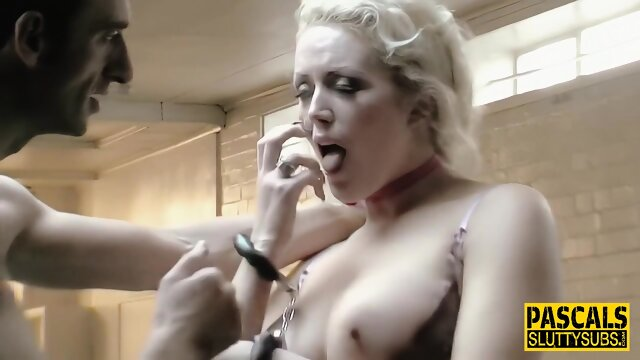 Throated fetish blonde with big boobs