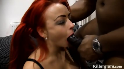 Redhead Bitch Loves Black Cocks