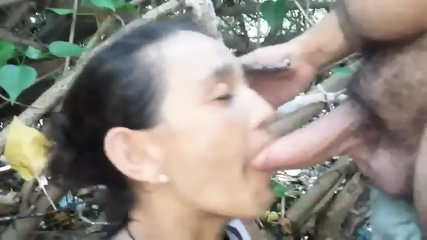 Iris Cock Sucking In The Woods - scene 9