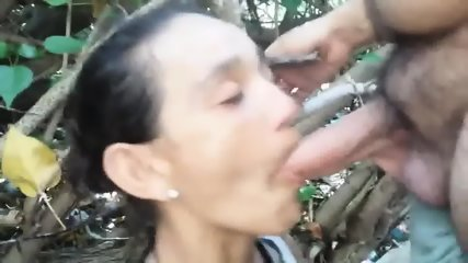 Iris Cock Sucking In The Woods - scene 10