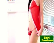 Young Ladyboy Kan Plays With Her Cock