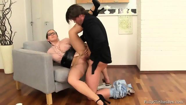 Sex Through Torn Pantyhose