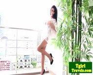 Tgirl Latina Kate Rubs Her Body Teasingly