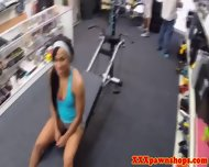 Naked Pawnshop Workout With Amateur Ebony