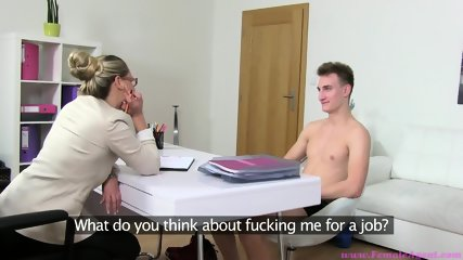 Horny Blonde Tests Out Young Guy - scene 4