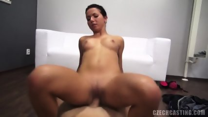 Nice Amateur Cock Riding At The Casting - scene 10