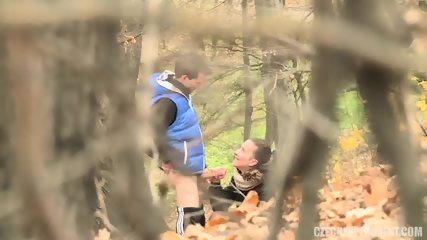 Slutty Girl Has Sex With Amateur Guy In The Forest - scene 10